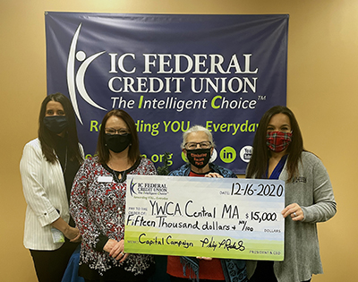 IC donation to YWCA Central MA