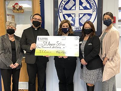 IC donation to St Anna School MA