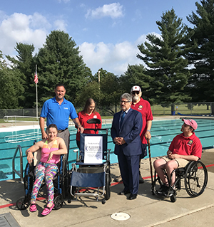 IC Donates a pool chair to Fitchburg Pool, MA