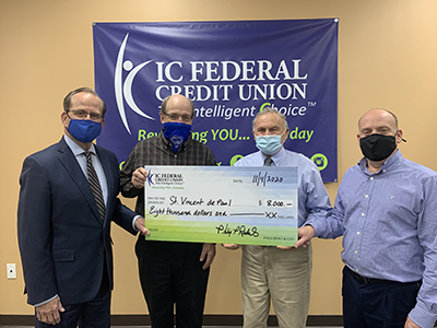 IC donation to St. Vincent de Paul